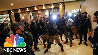 Police And Protesters Clash In Hong Kong's Shopping Malls | NBC News