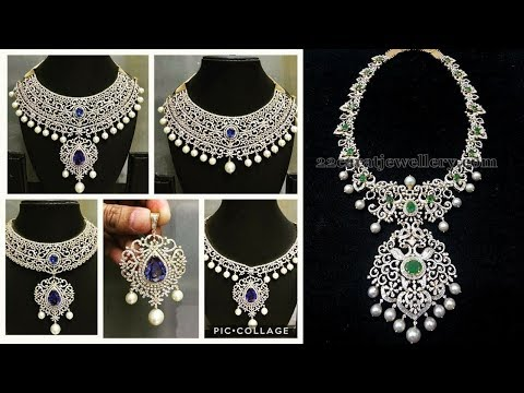 Indian Diamond Necklace Designs 2019 | Indian Jewellery Design 2019
