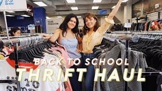 BACK TO SCHOOL THRIFT HAUL + Come Thrifting With Us!