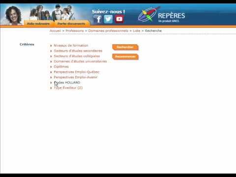 REPÈRES | L'exploration par domaines professionnels