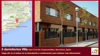 preview picture of video '3 dormitorios Villa se Vende en Sant Fost De Campsentelles, Barcelona, Spain'