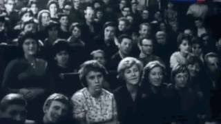 """1963, Москва, Булат Окуджава """"Сентиментальный марш"""" впервые  исполнено, политехнический музей"""