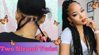 DIY Large Twist Using Janet Collection 3X Value Pack Marley Hair | Marley Twist On My Natural Hair