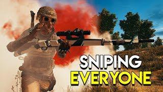 SNIPING EVERYONE - PUBG (PlayerUnknown