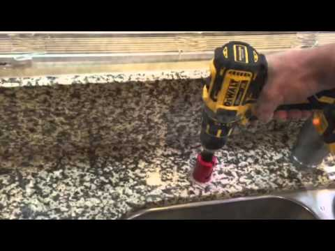 How to drill a hole in granite