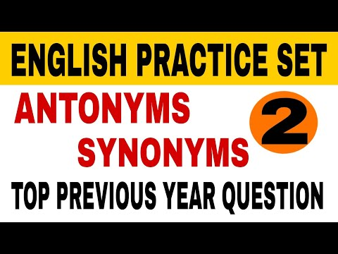 Download English practice set 2 | Important Synonym and antonym |  previous year english question Mp4 HD Video and MP3