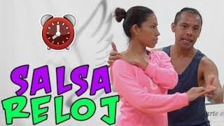 Tutorial En Español - SALSA en 1 | Vueltas y Figuras 2 -  RELOJ || Dance On Fire 👟🔥