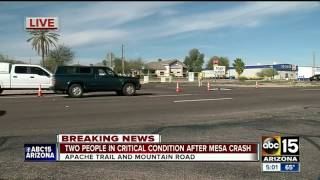 Two motorcyclists hospitalized after crash near Apache Junction