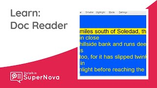 Learn SuperNova: Doc Reader