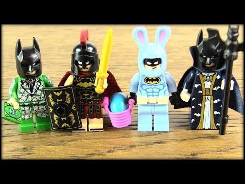 THE LEGO BATMAN MOVIE 4-PACK! MONEY BATMAN, EASTER BATMAN & MORE!