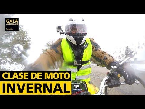 Cómo conducir tu moto en nieve, lluvia, frio...