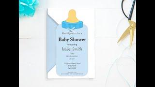 DIY Baby Shower Invitation - Baby Bottle Invitation