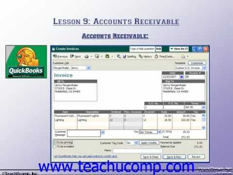 Accounting Tutorial Accounts Receivable Training Lesson 9.1 ...
