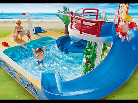 Piscina para niños con Fuente de Ballena Juguetes Playmobil Summer Fun