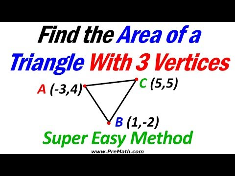 Area of triangles using points and coordinates
