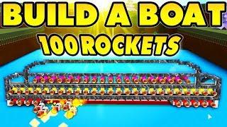 Build a Boat MISSILE LAUNCHER! (100 TNT Rockets!)