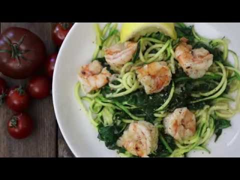 How to Make Shrimp Florentine with Zoodles | Seafood Recipes | Allrecipes.com