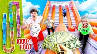 WORLDS BIGGEST Inflatable Obstacle Course Challenge - Win $10,000