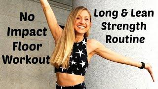 No Impact Floor Barre Workout. 30 Minute Long & Lean Routine by Caroline Jordan