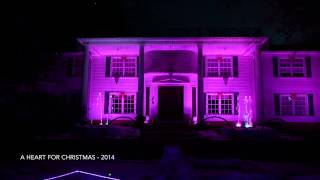Amazing Christmas Light Show! Projection Mapping and Water Fountains - Nutcracker Suite 2014