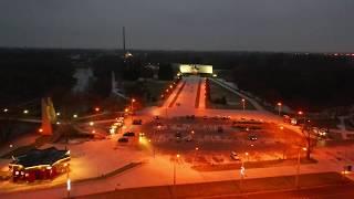Художественно-декоративная подсветка Брестской крепости ! Или просто включили свет ;) ?
