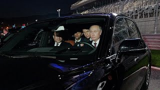 Watch: Putin powers Egyptian President around F1 circuit in latest manly pursuit