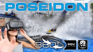 360° Water Roller Coaster POSEIDON | VR POV | Europa Park Achterbahn Montaña Rusa #360video