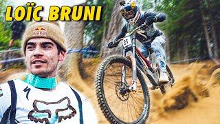 Loïc BRUNI, champion du monde de VTT de descente au cabinet