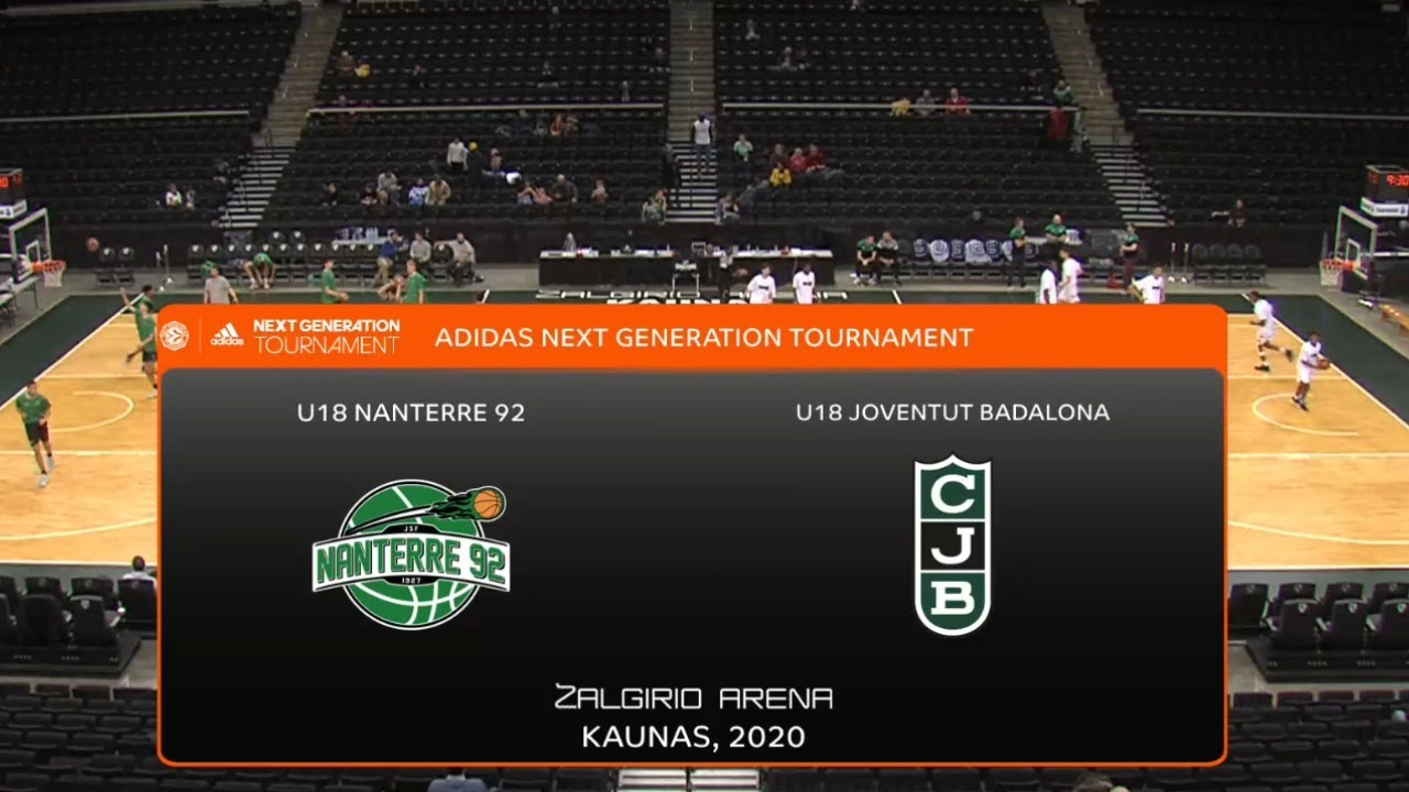 U18M - NANTERRE-92  vs  JOVENTUT.-  Euroleague B.  Adidas Next Generation Tournament. Kaunas 2020