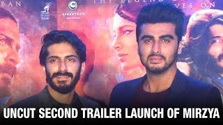 UNCUT: Arjun Kapoor At Mirzya's Trailer Launch | Harshvardhan Kapoor | Rhea Kapoor | Bollywood News