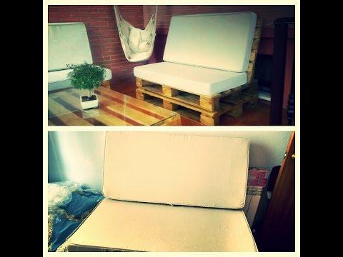 Fundas para cojines o colchones de sofá hecho con palets