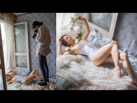 Window Light Boudoir Photoshoot, Behind The Scenes with Vivienne Mok