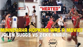 *HEATED* Hopkins vs Minnehaha Rematch Was A Movie!!! MN's best Jalen Suggs & Zeke Nnaji Duel It Out!
