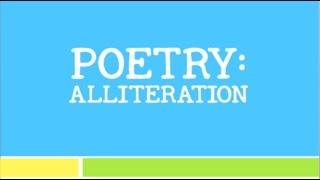 Poetry-Alliteration Vodcast