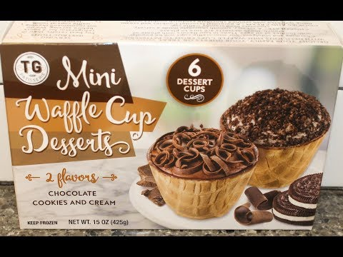 TG Patisserie Mini Waffle Cup Desserts: Chocolate and Cookies and Cream Review