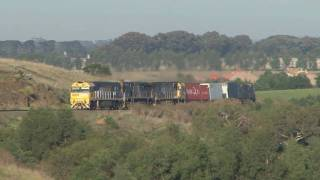 preview picture of video 'Railways in Australia; Interstate freight  # 2AM3'