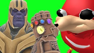 Can Thanos' INFINITY GAUNTLET Kill UGANDAN KNUCKLES Do You Know The Way Meme from Sonic in Gmod?