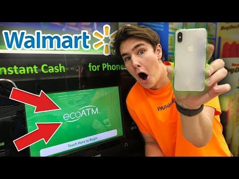 Selling My iPhone X To a Machine at Walmart