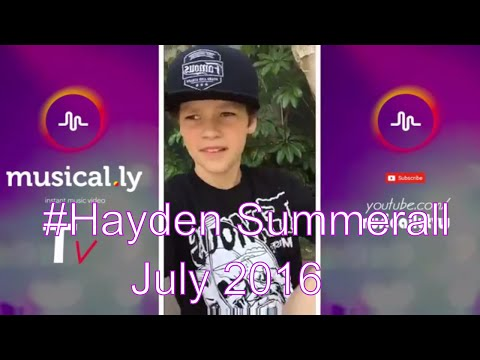 [Musical.ly Tv]Newest of Hayden Summerall musical.ly videos compilation-July 2016