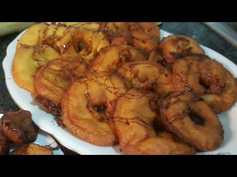 Buñuelos de manzana y plátano