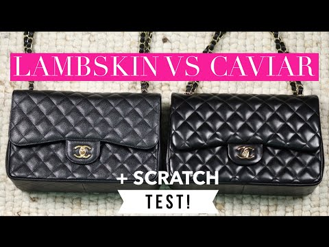 Chanel Lambskin vs Caviar + Scratch Test | Mel in Melbourne