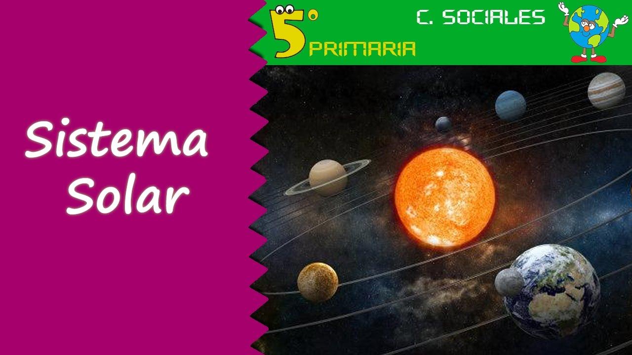 Sistema Solar. Sociales, 5º Primaria. Tema 1