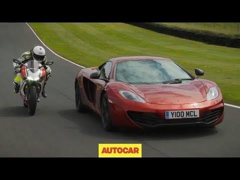 McLaren 12C vs Ducati 1199 Panigale S - ultimate supercar vs superbike showdown