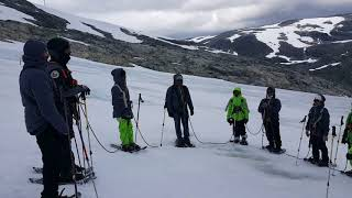 Indian National Anthem sung in Norway on the Glaciers on Independence day