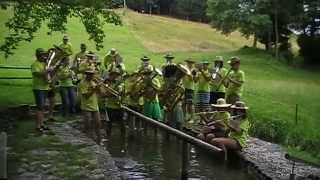 preview picture of video 'Musikverein Übersaxen - cold water challenge 2014'