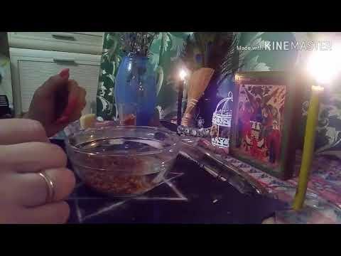 Ритуал снятия порчи, снятия приворота (на куриную косточку)
