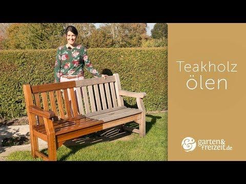 ▶ TEAKHOLZ ÖLEN - (Teil 3/3) damit wird Dein Teakholz wieder richtig schön! | Garten-und-Freizeit.de