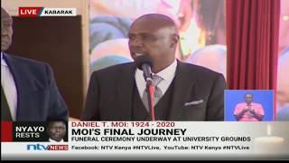 Gideon Moi Handed Mzee's Rungu || #MoiFinalJourney