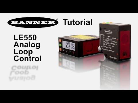 LE550 à sortie analogique - Contrôle de boucle