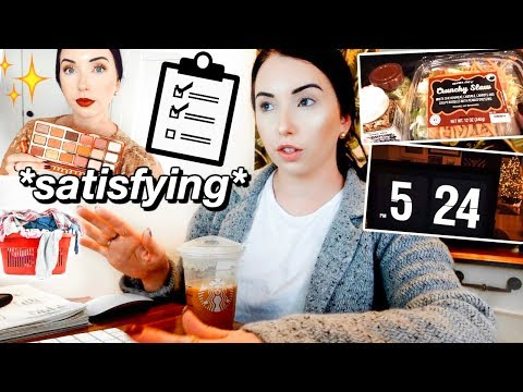 Check off My To-Do List with Me PRODUCTIVE VLOG! | Grocery Shopping, Brand Campaign, Laundry